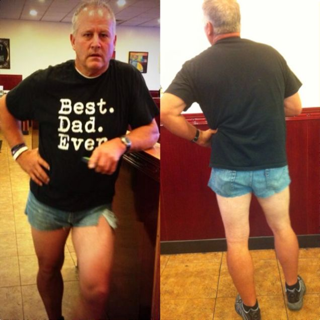 Dad Wears Short Shorts to Shame Daughter Into Wearing ... - photo#20