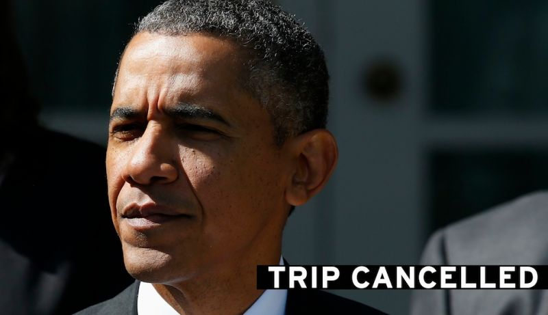 """Shutdown Day 2: Obama Cuts Trip Short, Rejects """"Piecemeal"""" GOP Offer"""