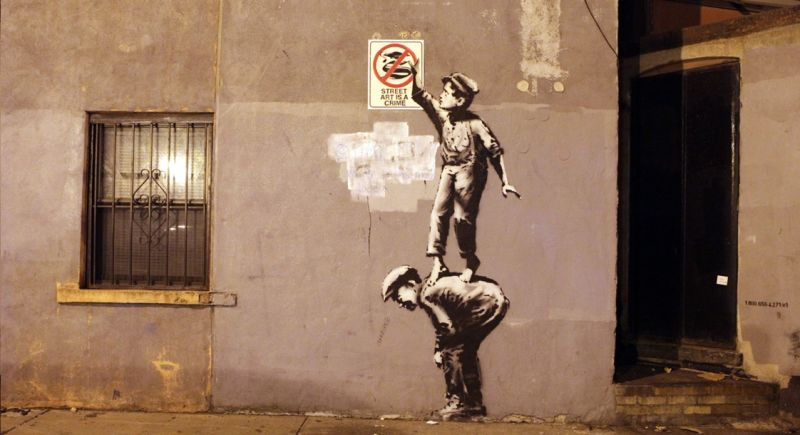 essay banksy Fresh writing an interactive banksy was brave enough to dodge the war zone she has also created a visual essay that accompanies the written piece.
