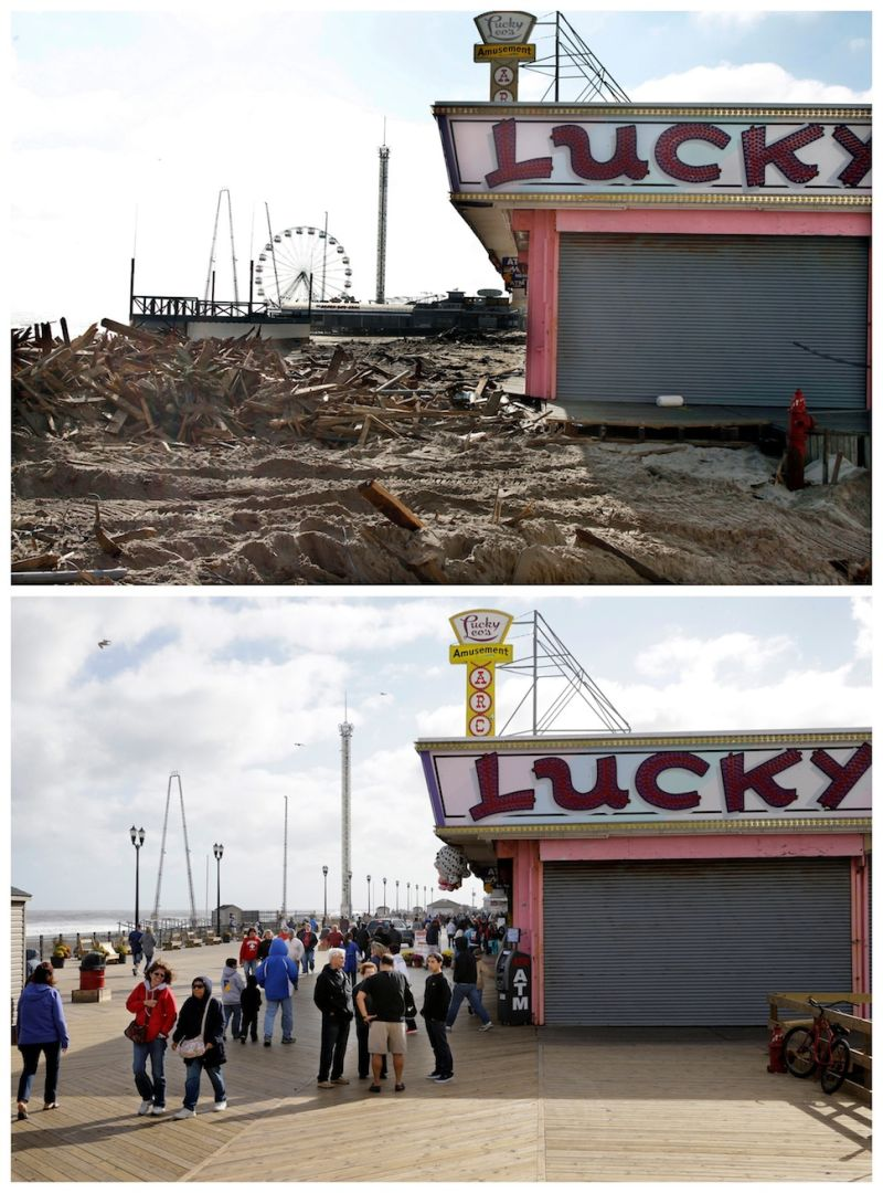 hurricane sandy before and after 10 images from the