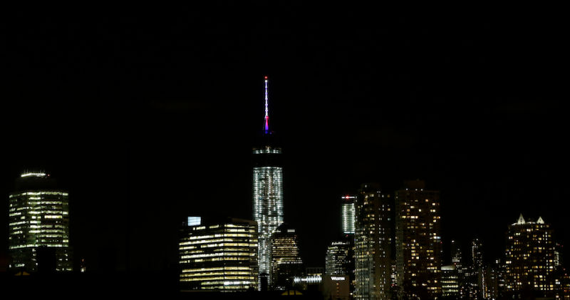 One World Trade Center Gets Its Finishing Red, White, and Blue Touches