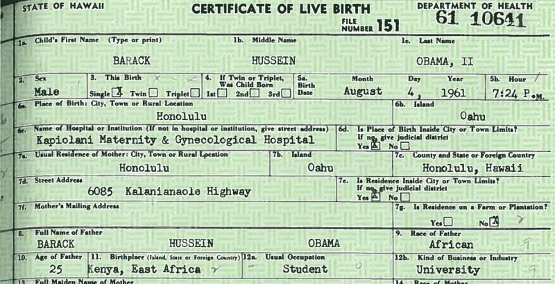 Hawaii Official Who Verified Obamas Birth Records Dies In Plane Crash
