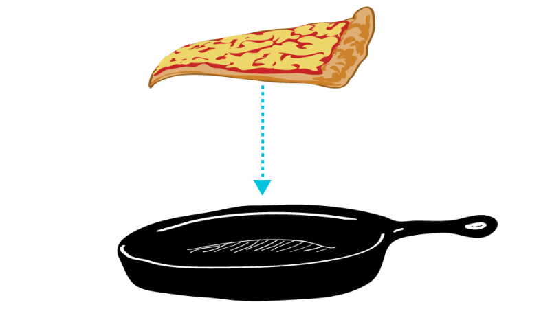The Way to Reheat Pizza Is in a Skillet