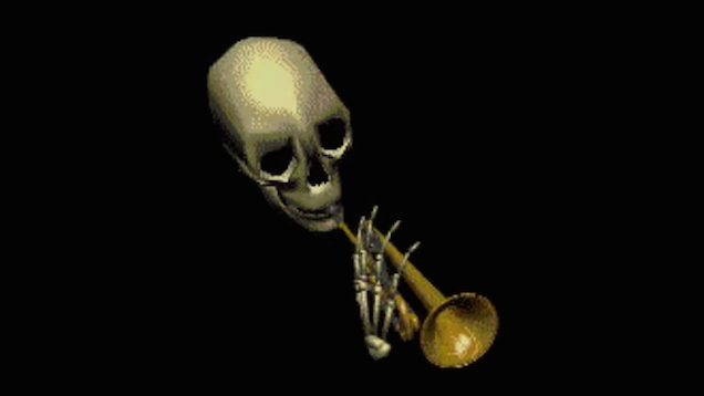 original in praise of skull trumpet, the internet's spookiest meme
