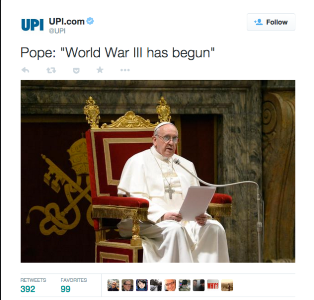 i>New York Post </i>Twitter Hijacked to Declare Fake Papal