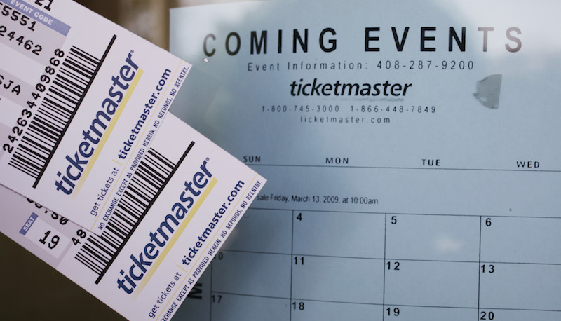 Ticketmaster tickets are printed on high-quality paper and react different to high heat than normal paper. Take a paper clip and heat it up red hot. Set the hot edge on the corner of the ticket for a few seconds.