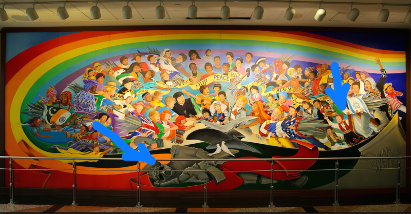 The denver airport will be a nazi paradise after our for Dia mural artist