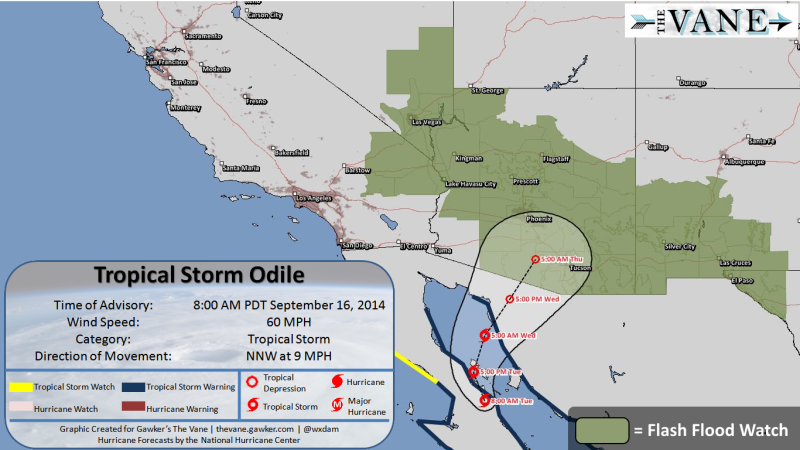This Afternoon After Striking The Baja Peninsula As A Major Hurricane On Sunday Night The Storm S Remnants Will Move Into The Southwestern U S