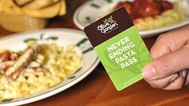Olive Garden Pasta Pass Buyers Are Stuck With Their Disgusting Fate