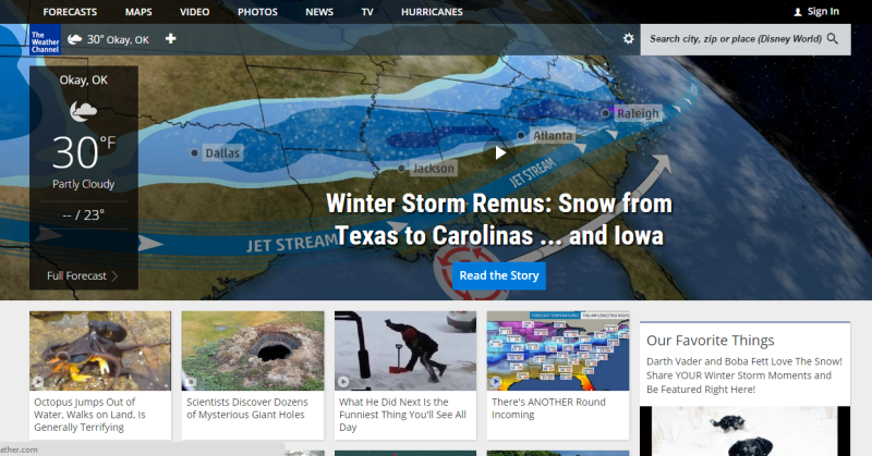 Weather com Kills The Weather Channel's Credibility