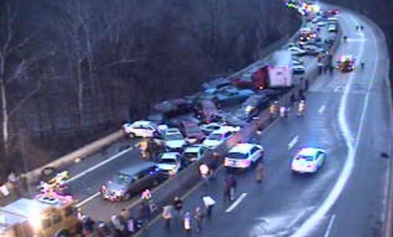 At Least Three Dead and Dozens Injured in Northeast Pileups