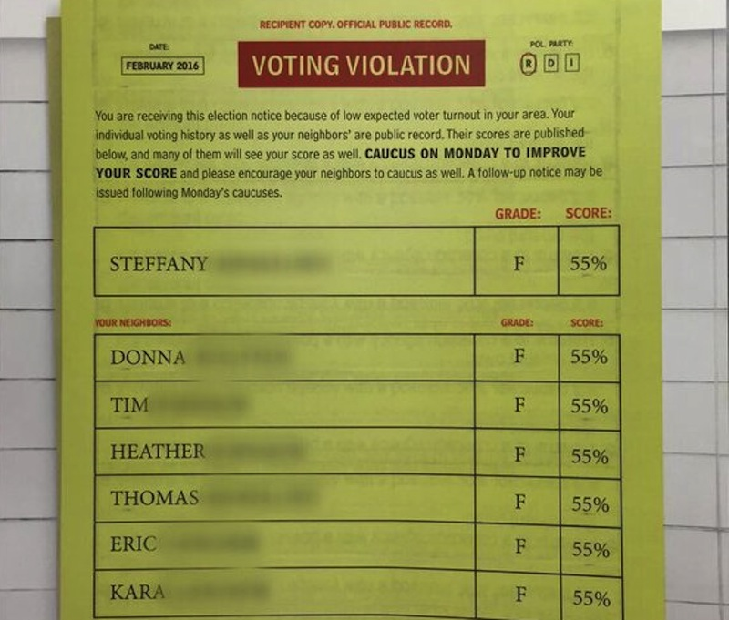 Ted Cruz's Ludicrous Voter-Shaming Mailer Is a Deceptive Sham