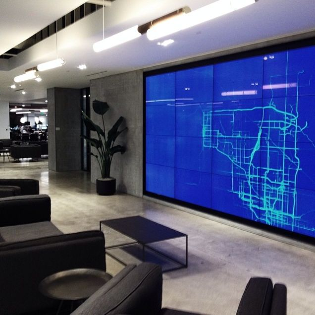 """Inside Uber's New """"Polished, Yet Gritty"""" Man Cave"""