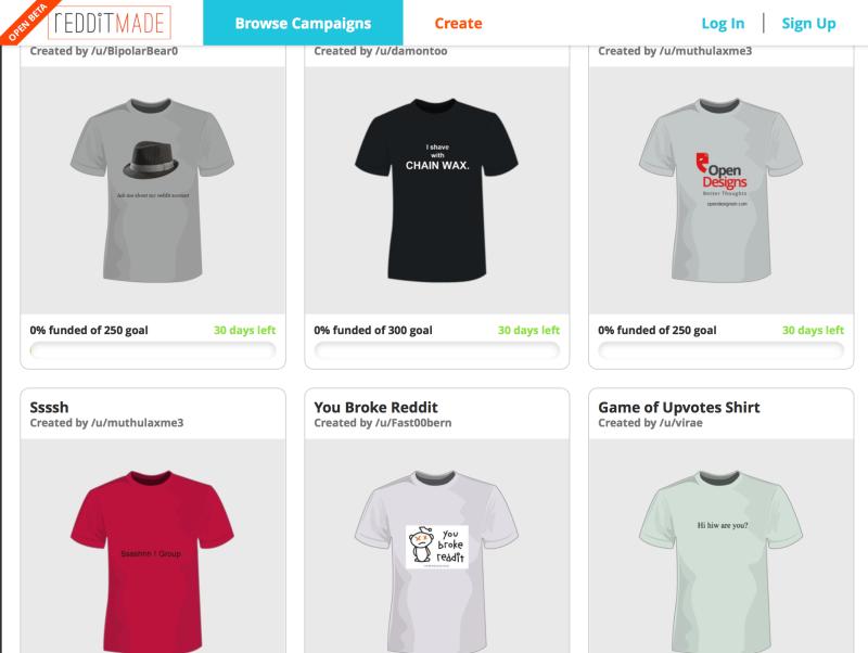 Reddit Unveils the Worst Kickstarter Clone We've Ever Seen