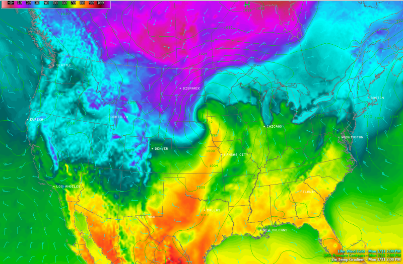 This Temperature Map of the United States Is Mesmerizing