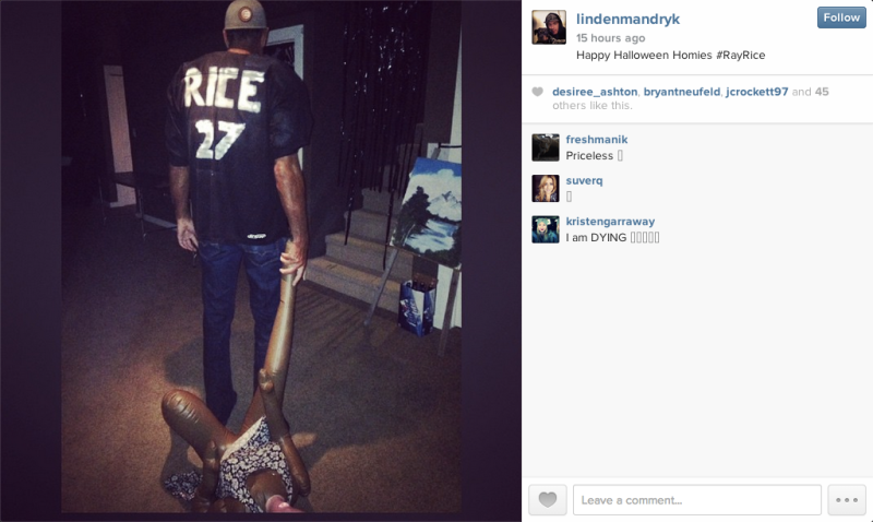 ray rice halloween costumes combine blackface domestic