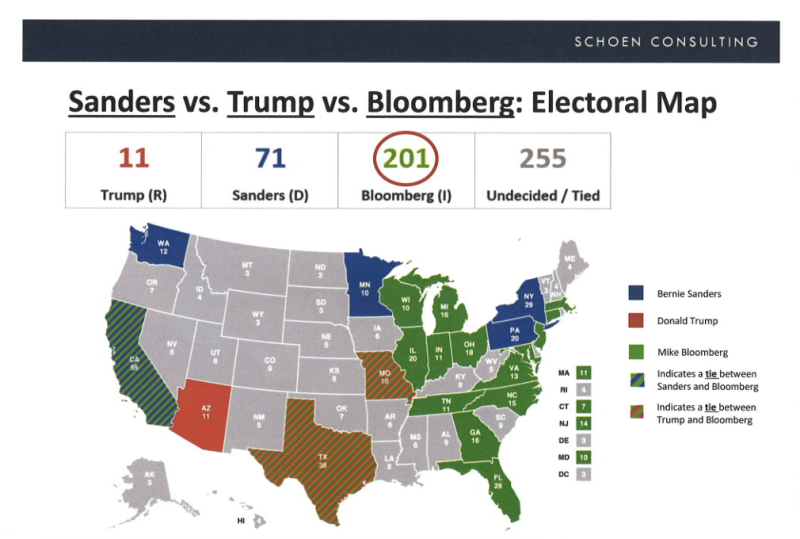 Look At These Insane Internal Maps Outlining How Michael Bloomberg Could Become President