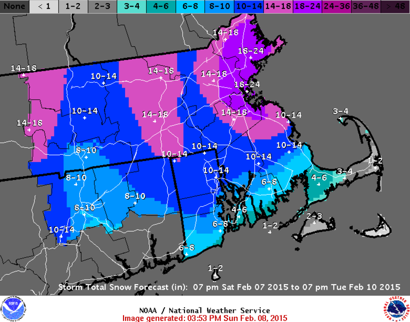 Boston Expecting Another Major Snowstorm, NYC Could See ... on