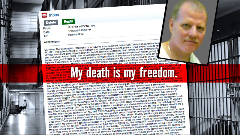 Letters From Death Row: Jeffrey Wogenstahl, Ohio Inmate A269-357