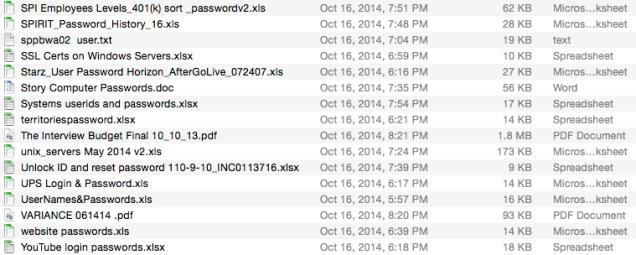 Sonys TopSecret Password Lists Have Names like MasterPasswordSheet – Ksheet