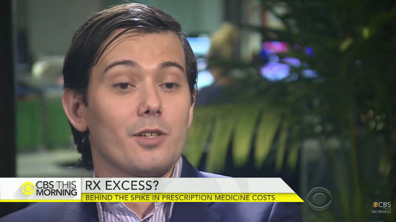 Pharmaceuticals Rapscallion Martin Shkreli Now Playing the Stock Market Like a Goddamn Pan Flute