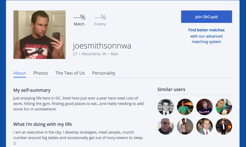 Okcupid dating persona results of republican