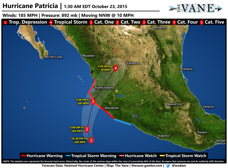 Mexico Hurricane Map Mexico's West Coast in Grave Danger as 'Potentially Catastrophic