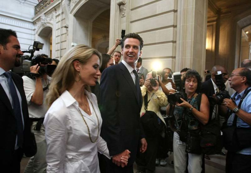 San Francisco S First Lady Pregnant With Gavin Newsom S Campaign Prop
