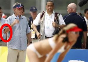 Bush Looking Drunk At The Olympics