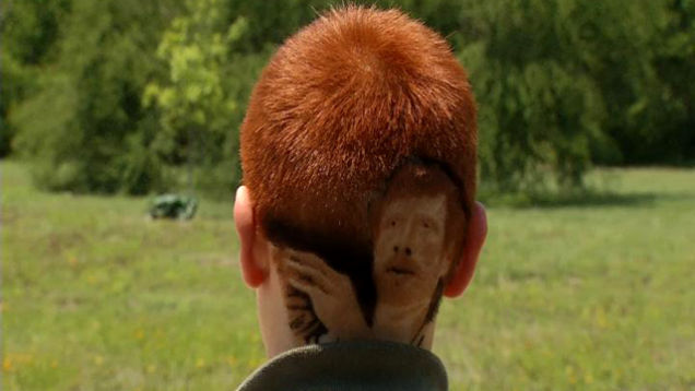 Kid Disciplined For Having An Insanely Detailed Matt Bonner Haircut