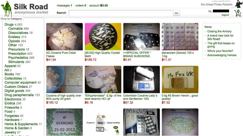 Booming Silk Road Drug Market Boasts $22 Million In Yearly