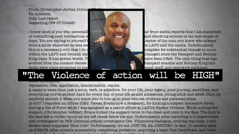 Image result for dorner manifesto