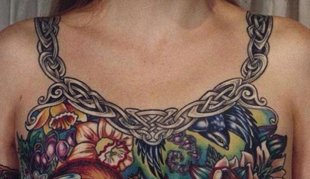 Photo Of A Breast Cancer Survivor's Chest Tattoo Goes