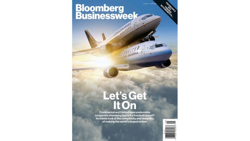 Maybe you haven't seen Bloomberg BusinessWeek's very edgy and risque new  cover? With two airplanes having sex to symbolize airline mergers  (-