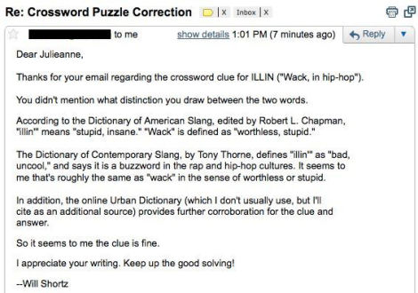em>New York Times</em> Crossword Puzzlemaster Schooled on