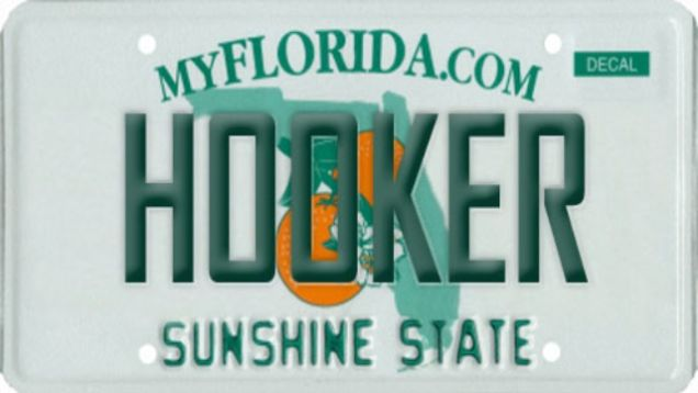 florida's best banned license plates