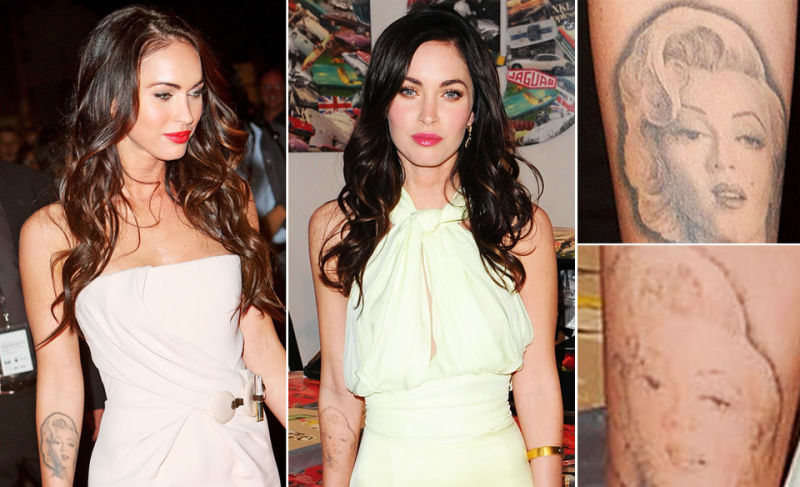 Megan Fox Removing Her Terrible Marilyn Monroe Tattoo