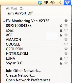 Do Not Name Your Wifi Network 'FBI SURVEILLANCE VAN'