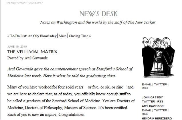 Med School Dean Just Steals Speech From <em>The New Yorker</em>