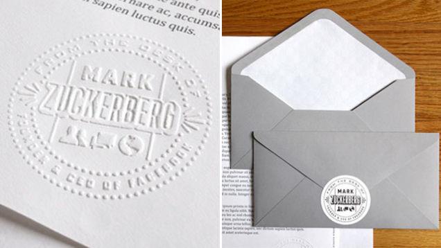 check out mark zuckerberg s fancy stationery