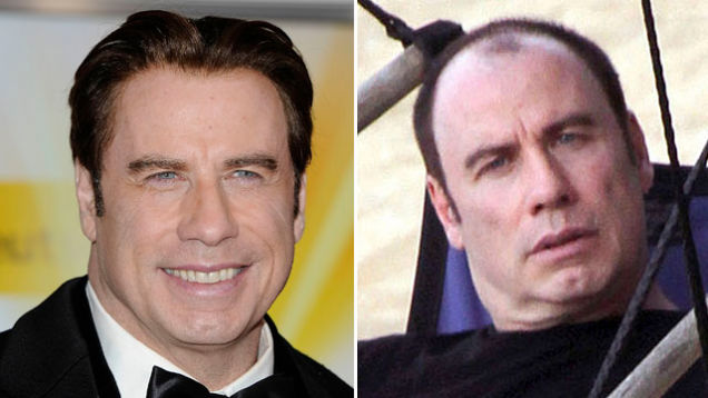 John Travolta Goes In Public Without His Wig