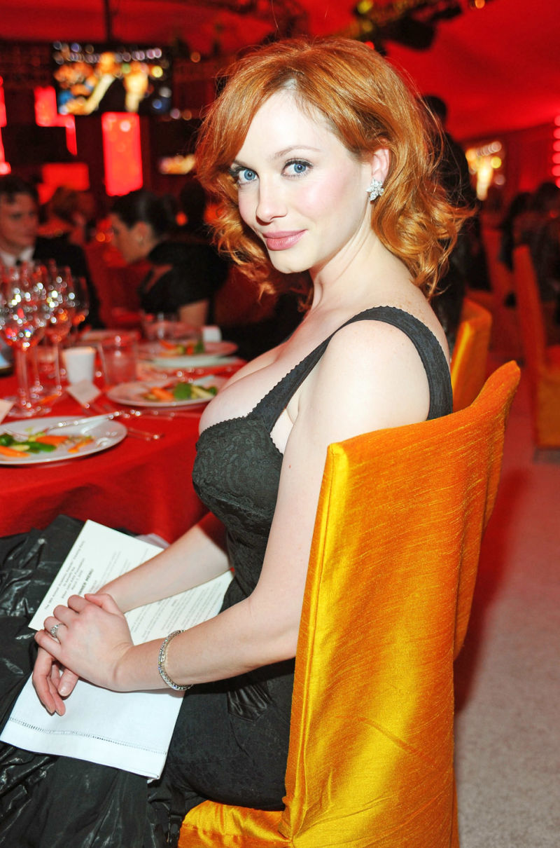 Christina Hendricks Wants A Banana In Her Stocking And Other Yuletide Entendres