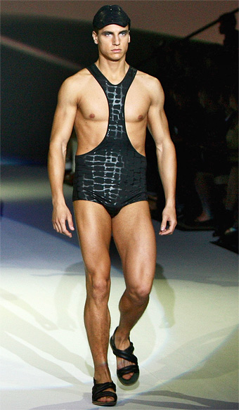 70312d0587bac According to at least one fashion blogger the Mankini—that strange hybrid men's  bathing suit—is here to stay. Why is this idea patently ridiculous?