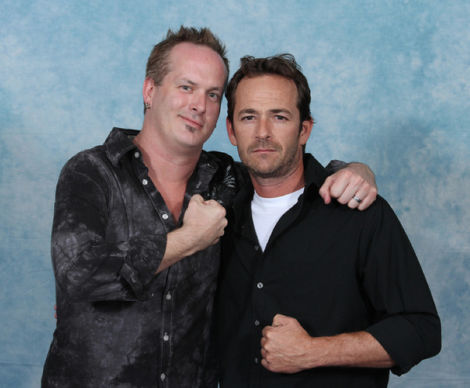 what is luke perry thinking in these photos