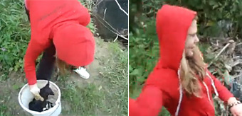 Puppy Throwing Girl Caught In Bosnia