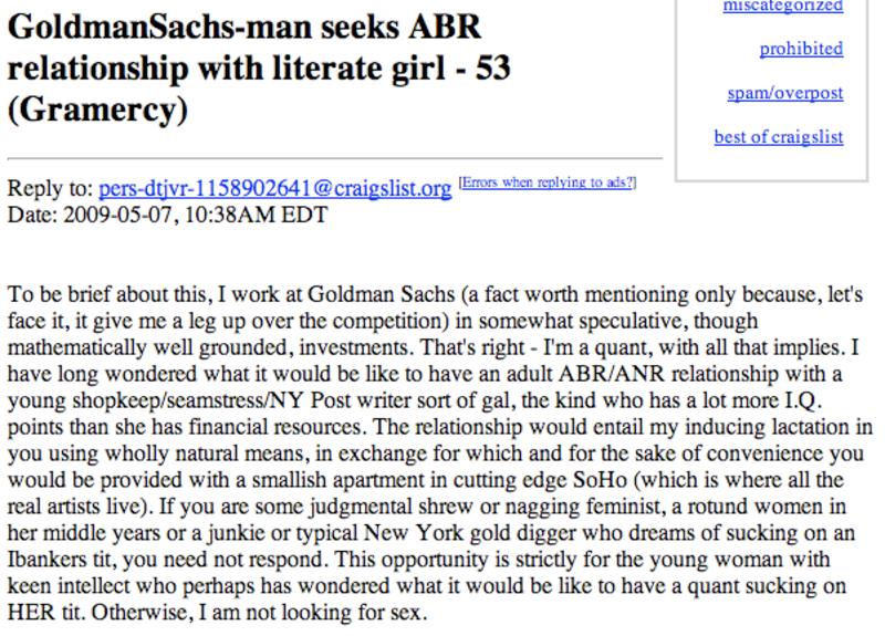 Dating Goldman Sachs