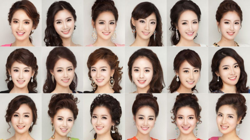 Plastic Surgery Blamed for Making All Miss Korea Contestants Look Alike