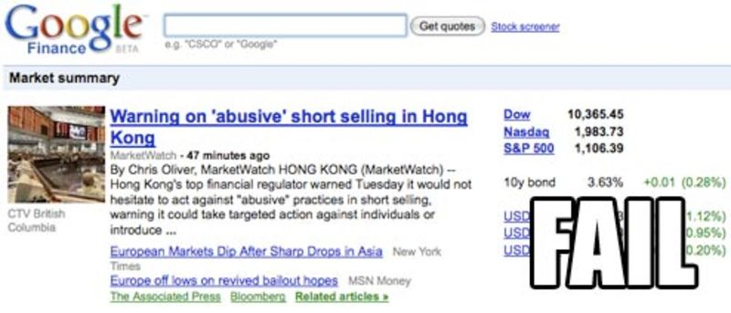 google-finance — Gawker