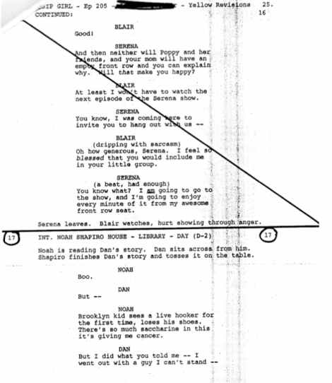 Leaked <i>Gossip Girl</i> Script! Sad Young Literary Men