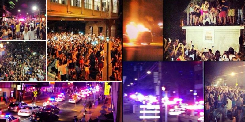 College Students Riot After Im Shmacked Party Turns